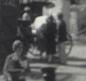 Zoomed in on a portion of a frame from a 1928 trip to Panama, Mexico and Bermuda